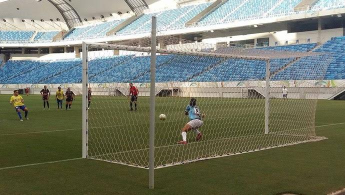 União x Caucaia Copa do Brasil Feminino (Foto: Jocaff Souza/GloboEsporte.com)