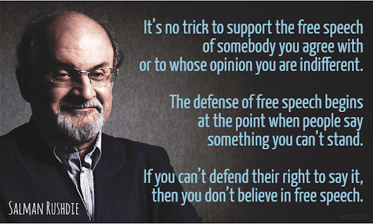 "Rushdie, Salman - ""Do we have to fight the battle for the Enlightenment all over again?"" The Independent (22 Jan 2005) 
