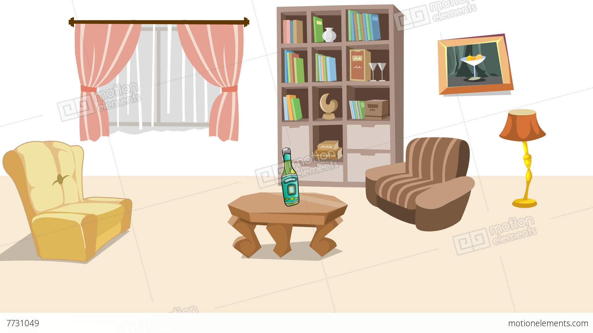 me7731049 earthquake cartoon living room hd a0091