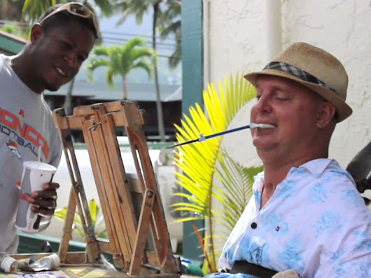 Paralyzed Hawaiian Man Paints with His Mouth (VIDEO)