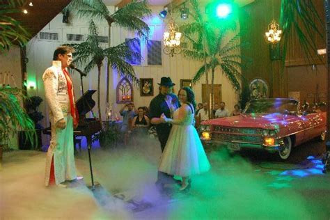 Get our vows renewed by Elvis. This is at the Viva Las