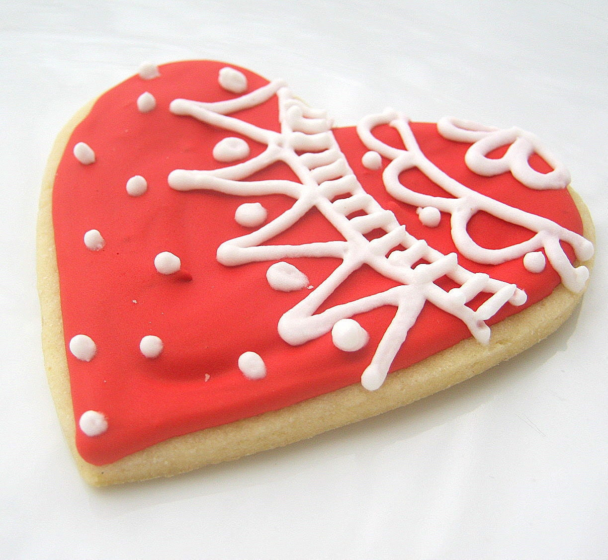 "Vintage Lace Hearts 12 Count 3"" Valentine Sugar Cookies All Natural Home Baked"