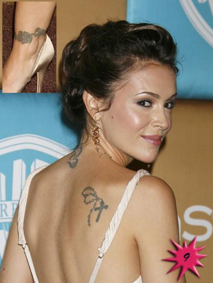 Alyssa Milano Cross Tattoo Tattoomagz