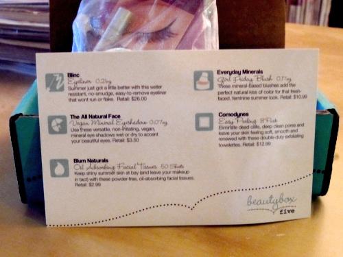 Beauty Box 5 - Sample Instruction Card