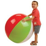 US Toy IN239 48 & 30 in. Beachball Inflate