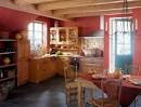 Photograph of Kitchen: Attractive Red Wall For Interesting Kitchen ...