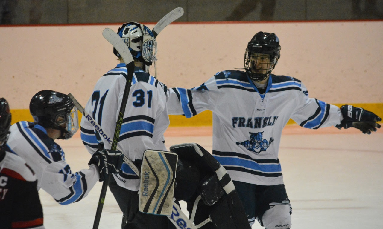 Franklin held on for a 2-1 victory over Wellesley in the Div. 1 South first round at Loring Arena. (Josh Perry/HockomockSports.com)