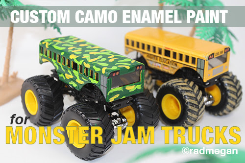 Custom Enamel Paint for Hot Wheels Monster Trucks - Radmegan