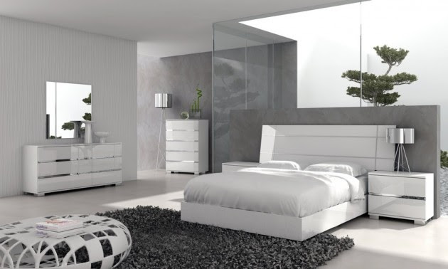 Seryiy odnotonnyiy dizayn spalni v sovremennom stile  15 Unique Bedroom Furniture Set to Inspire You