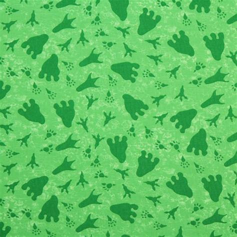 green dinosaur footprints fabric Dinos On Parade USA