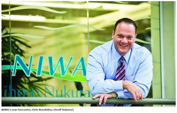 NIWA forecaster Chris Brandolino.