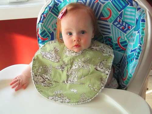 Bria with her Bib