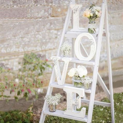 White Wooden LOVE Wedding Sign Romantic Wedding Decoration