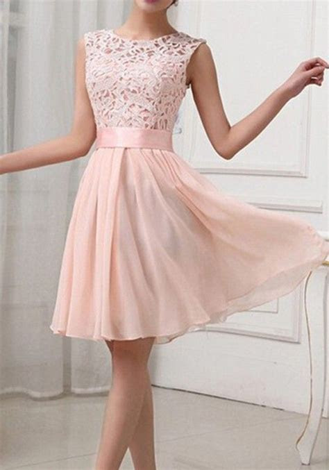 2017 New Arrival Light Pink Patchwoork Lace Homecoming