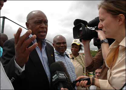 Tokyo Sexwale at the ANC conference in Polokwane. Jacob Zuma was elected as the new president of the ruling party of the Republic of South Africa. by Pan-African News Wire File Photos
