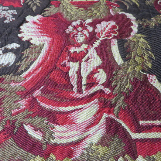 4 5/8 yds Sumptuous Brunschwig & Fils Rajah Lampas Style Figural Upholstery Fabric