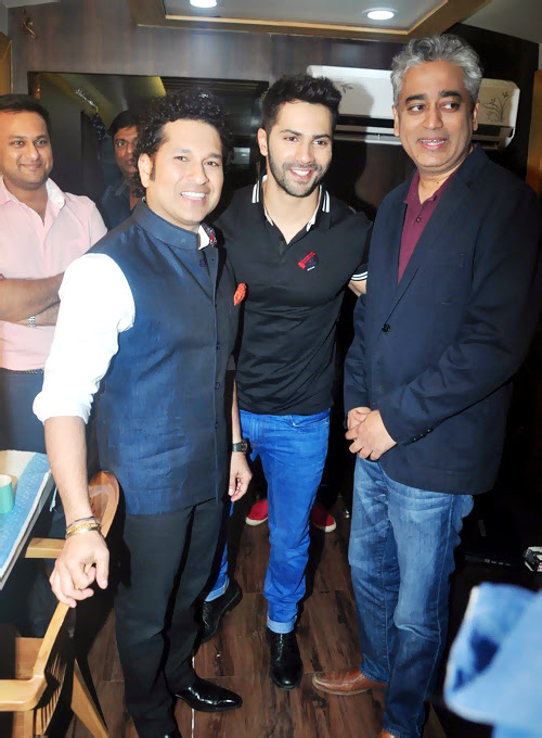 Sachin Tendulkar @ Promotion Of Badlapur At Mehboob Studio