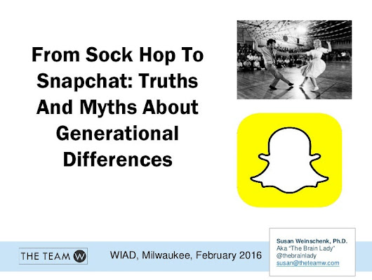 From Sockhop To SnapChat: Generational Differences