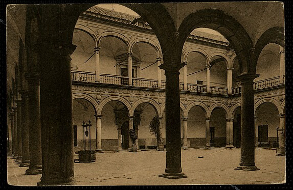 Hospital Tavera a comienzos del siglo XX. Postal de Wundelich