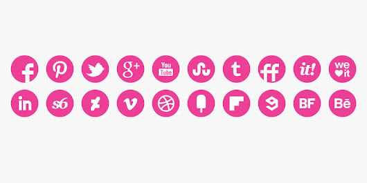 Round Pink Icons Set April 21, 2015