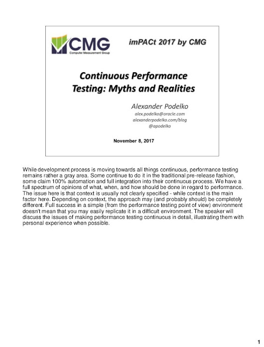 Continuous Performance Testing: Myths and Realities