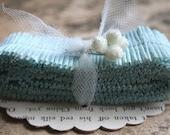 robins egg blue vintage crepe paper ruffles.... - juliecollings