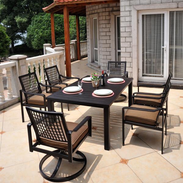 Hyde Park Patio Furniture Dining Set - Hanamint   Family ...