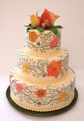 painted wedding cake 3