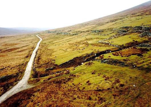 Deserted Village on Achill Island from the air | EyeEm