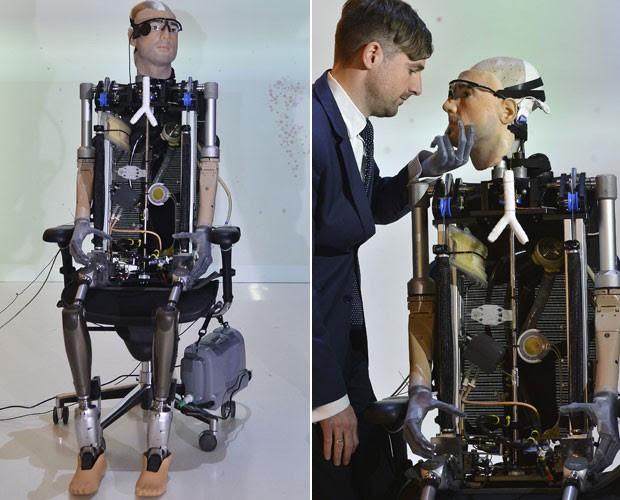 """Psicólogo Bertolt Mayer foi usado como modelo para a criação do """"homem biônico"""" (Foto: Toby Melville/Reuters)"""