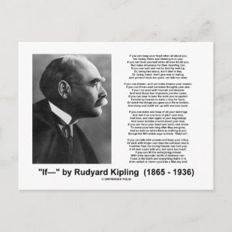 """Se"" poema por Rudyard Kipling Cartao Postal"
