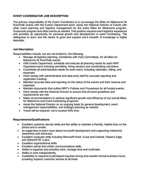 8  Sample Event Coordinator Resumes in PDF