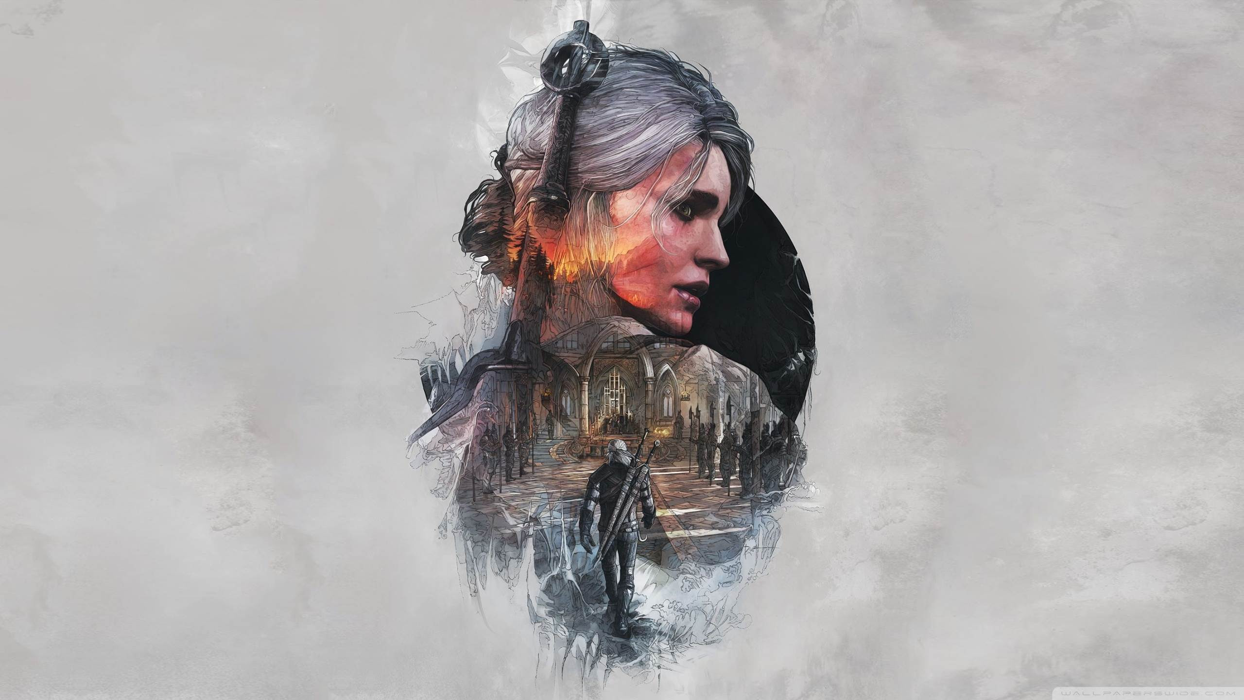 The Witcher 3 Wild Hunt Ciri Fanart Hd Desktop Wallpaper