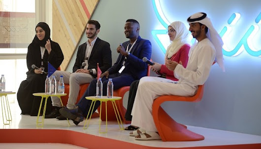 Co-founder Hashim Alzaabi panelist at Sheraa Hub launch - AEBISS
