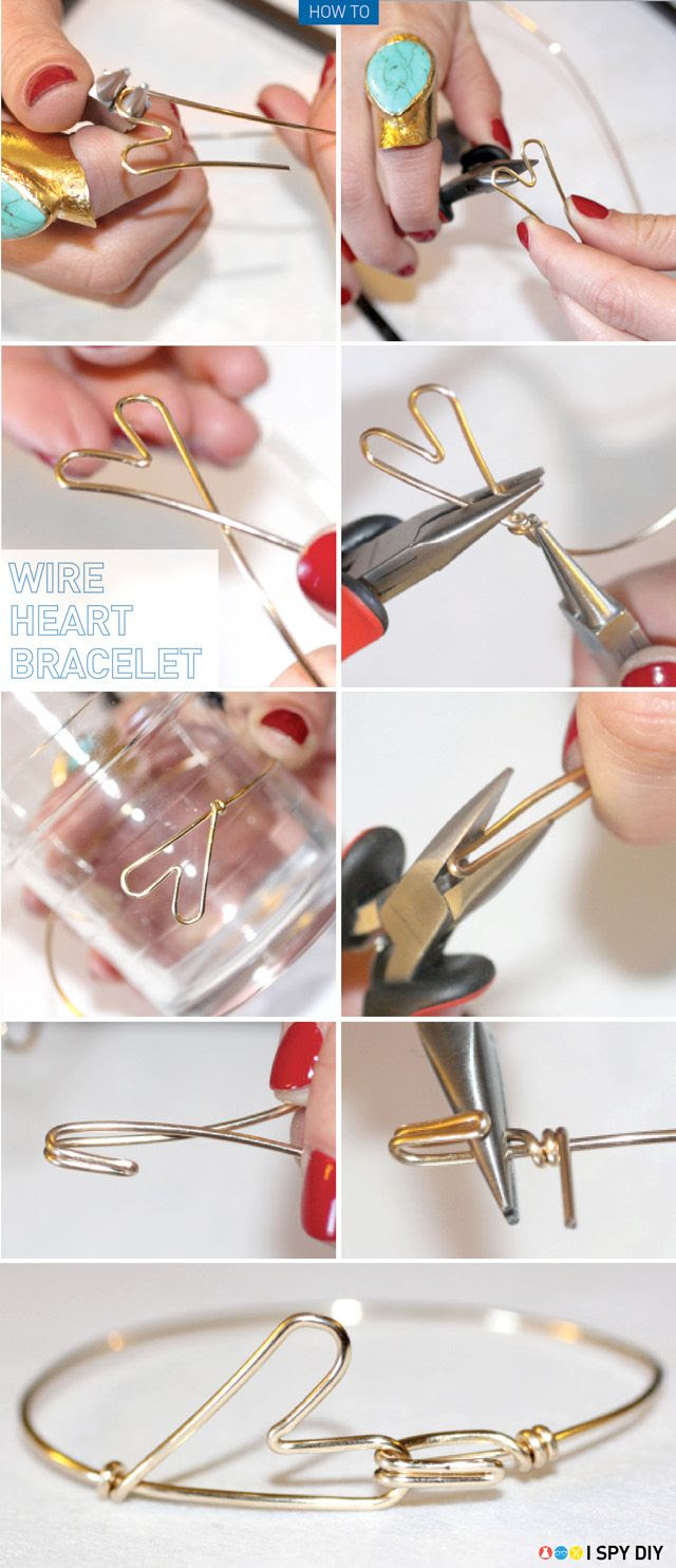 I Spy DIY: [My DIY] Heart Bracelet or ring