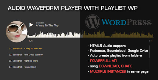 Download Nulled Audio Waveform Player with Playlist WP Plugin For Free