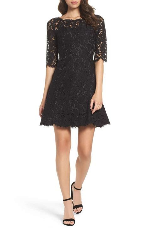 Lace Fit and Flare Dresses On Trend For Fall Wedding Guest
