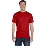 Hanes 518T Beefy-T Tall T-Shirt - Deep Red - 2XT
