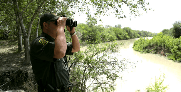 Border Patrol Agent on Border