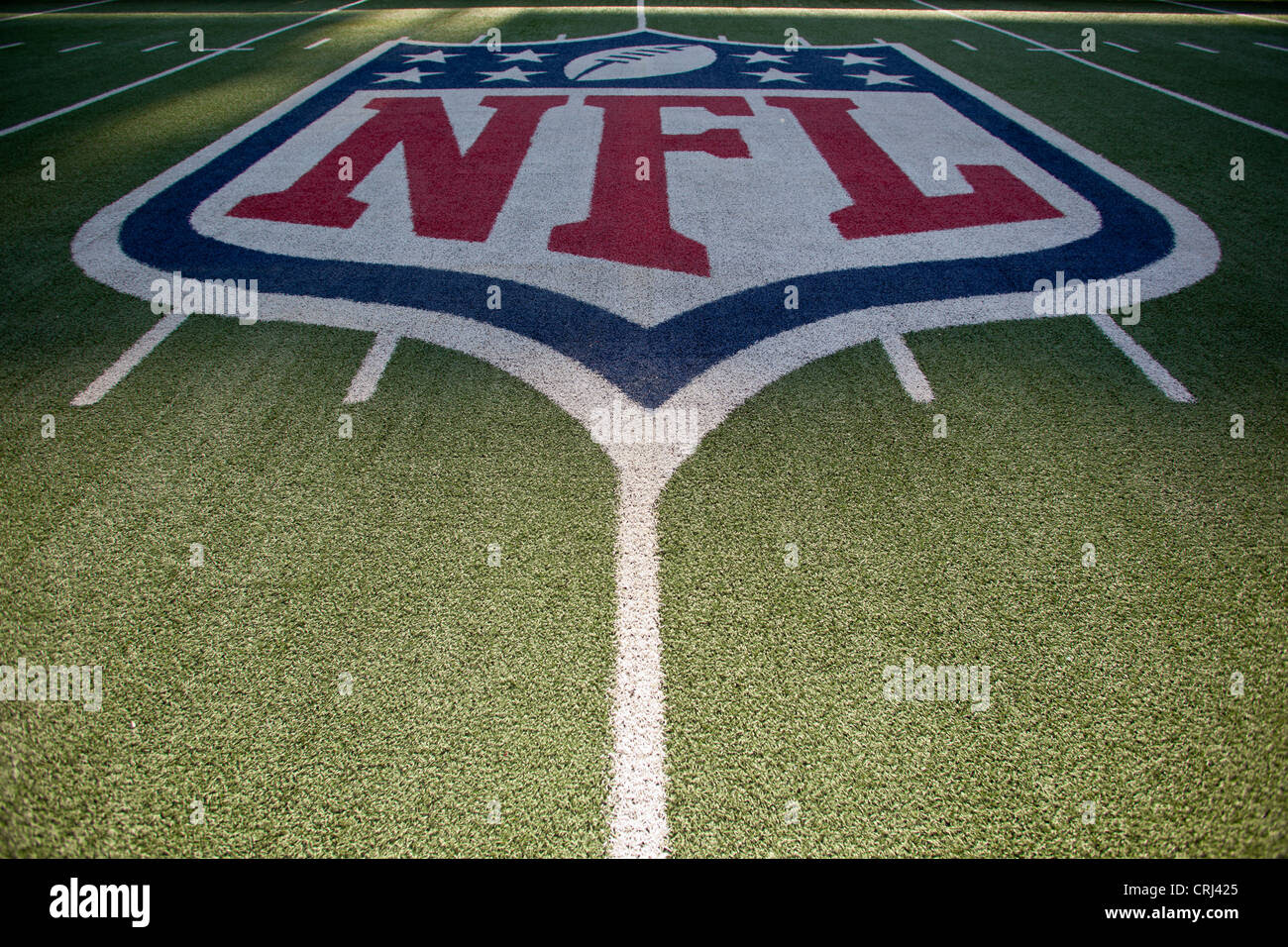 NFL logo on the field in American Football stadium Stock Photo, Royalty Free Image: 48956157 - Alamy