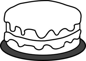 Birthday Cake Clip Art Outline