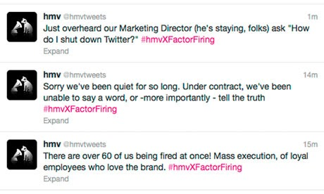 Employees take over official corporate Twitter feed