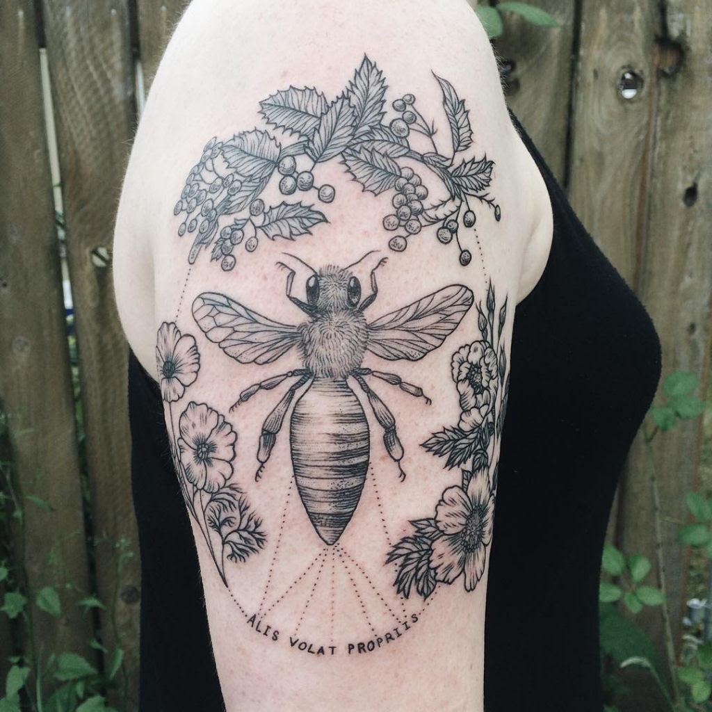 Tatuagens inspiradas na natureza combinam gravuras de estilo vintage de fauna e flora 02