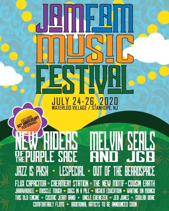 Jam Fam Music Festival Sets Inaugural Lineup: Melvin Seals & JGB, New Riders of the Purple Sage, Jazz is Phsh and More
