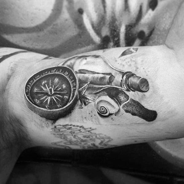 40 Message In A Bottle Tattoo Designs For Men Manly Ink Ideas