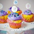 Tie-Dyed Funfetti Cupcakes