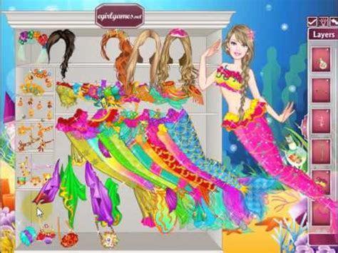 Barbie Mermaid Princess Dress Up online girl game   YouTube