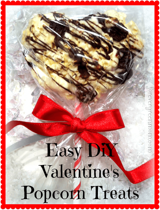 Valentine's DIY Chocolate Cherry Popcorn Treats for Kids
