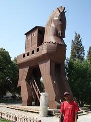 Trojan Horse Di Runtuhan Kota Troy, Canakkale, Turkey