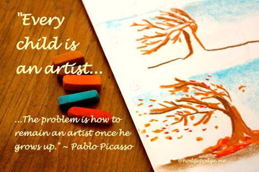 Wind in the Tree Chalk Pastel Tutorial: Art in Motion - Hodgepodge